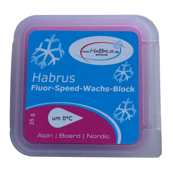 Fluor-Speed-Wachs-Block rosa 35g