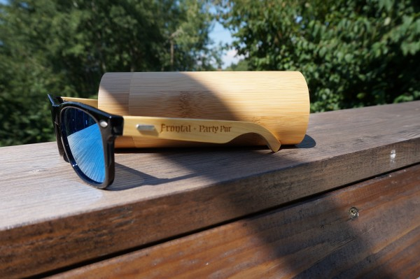 """Sonnenbrille """"Frontal - Party Pur"""" mit Holzbügel"""